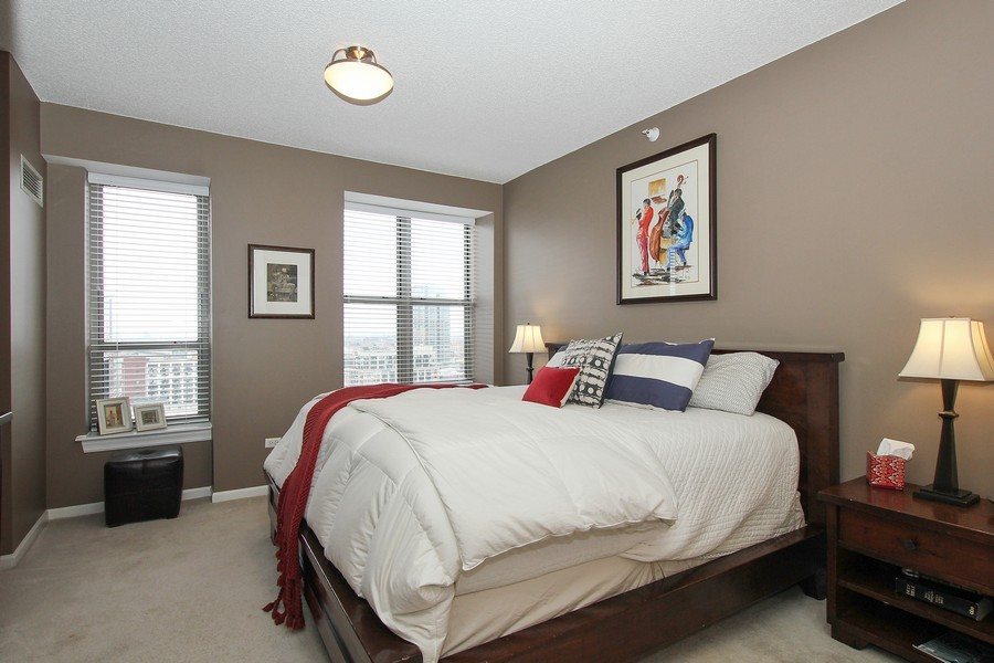 Real Estate Photography - 1717 S Prairie, Unit 1910, Chicago, IL, 60616 - Master Bedroom