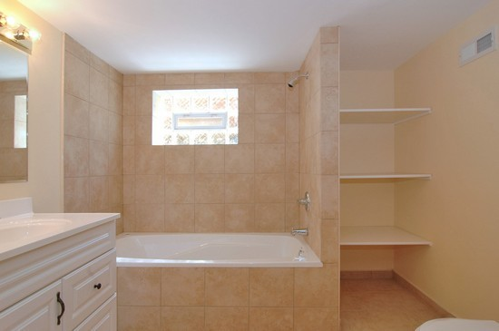 Real Estate Photography - 14742 S Michigan Ave, Dolton, IL, 60419 - Lower Level Bathroom