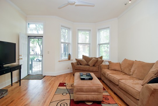 Real Estate Photography - 1040 N Winchester, Chicago, IL, 60622 - Living Room