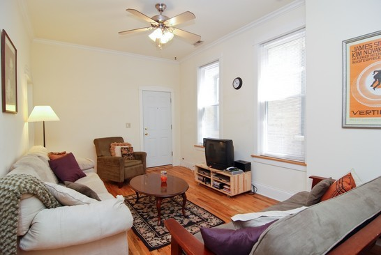 Real Estate Photography - 1040 N Winchester, Chicago, IL, 60622 - Family Room