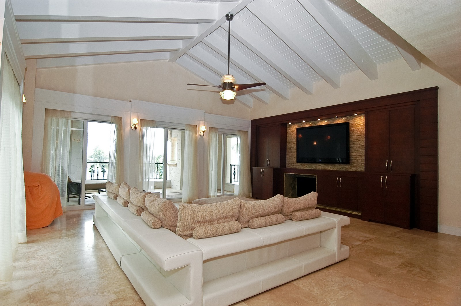 Real Estate Photography - 2331 Fish Island Dr, Fisher Island, FL, 33109 - Living Room