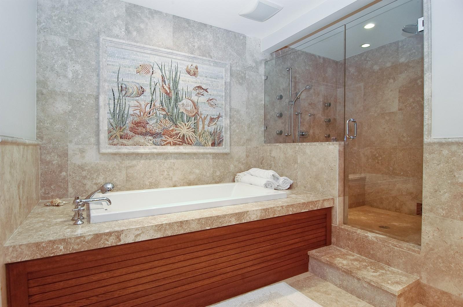 Real Estate Photography - 2331 Fish Island Dr, Fisher Island, FL, 33109 - Master Bathroom