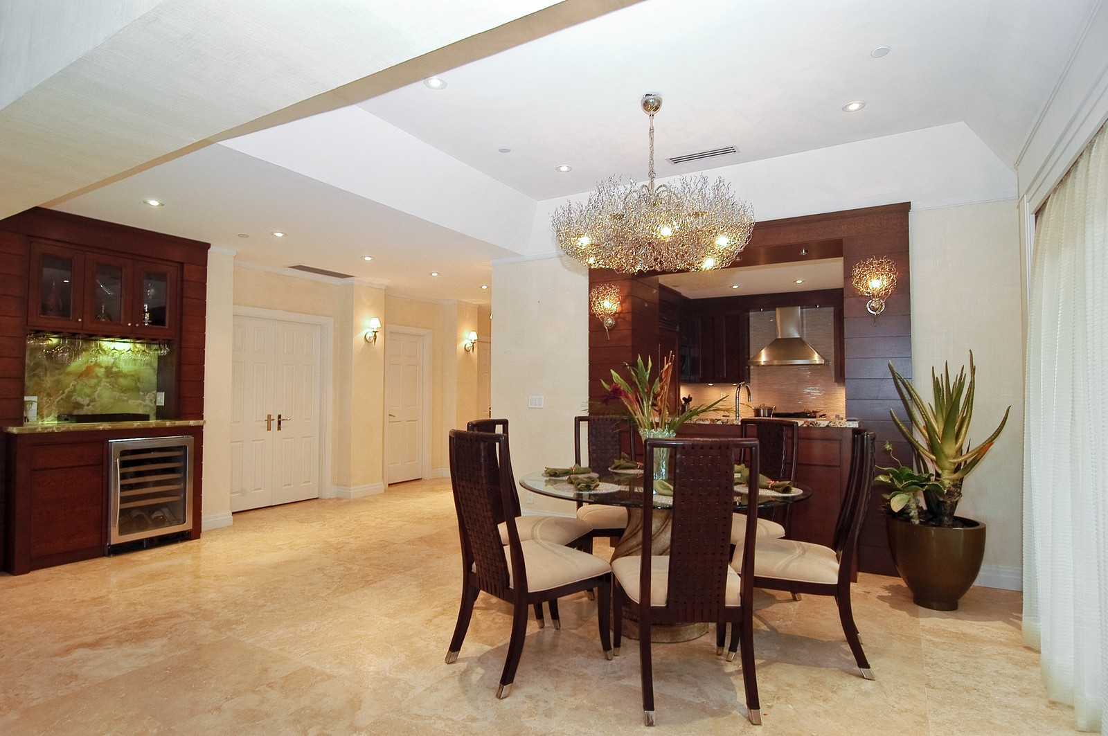 Real Estate Photography - 2331 Fish Island Dr, Fisher Island, FL, 33109 - Dining Room