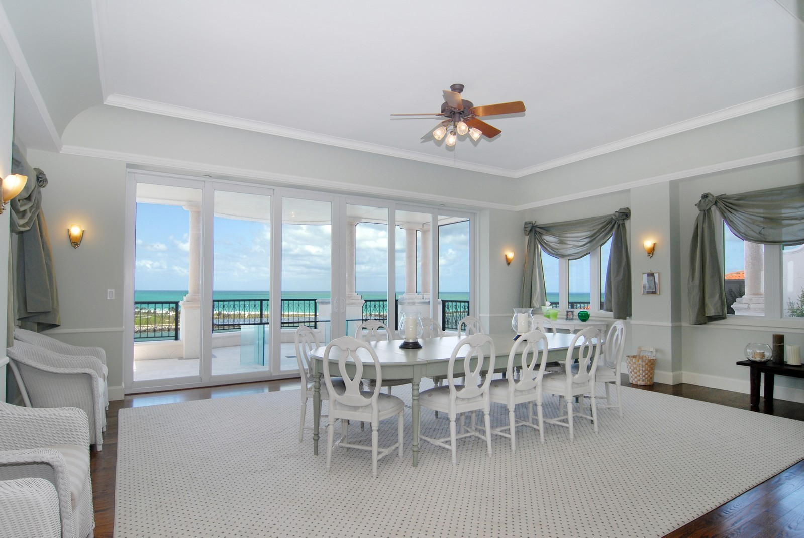 Real Estate Photography - 7281 Fisher Island Drive, Fisher Island, FL, 33109 - Dining Room