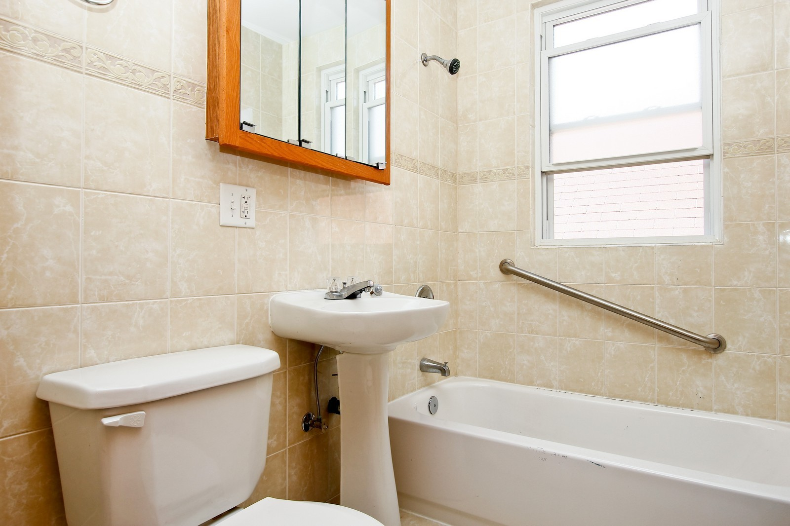 Real Estate Photography - 840 N Drake, Chicago, IL, 60624 - 2nd Bathroom