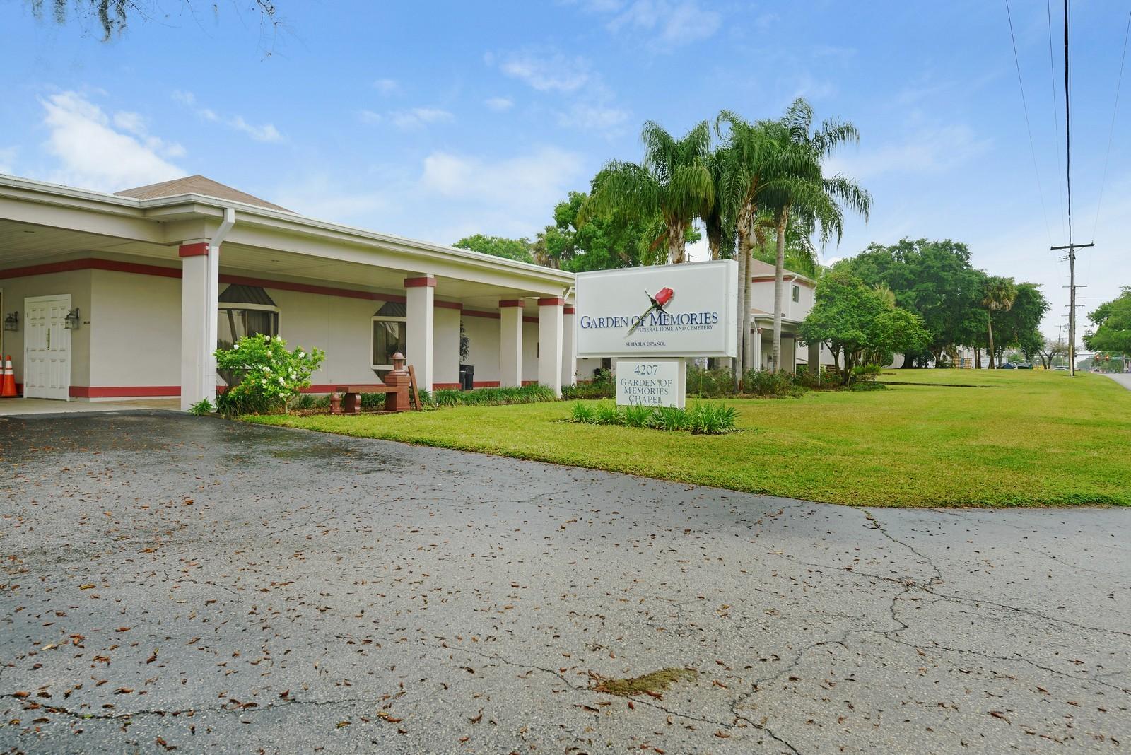 fl real estate photography 4207 east lake ave garden of memories tampa - Garden Of Memories Funeral Home