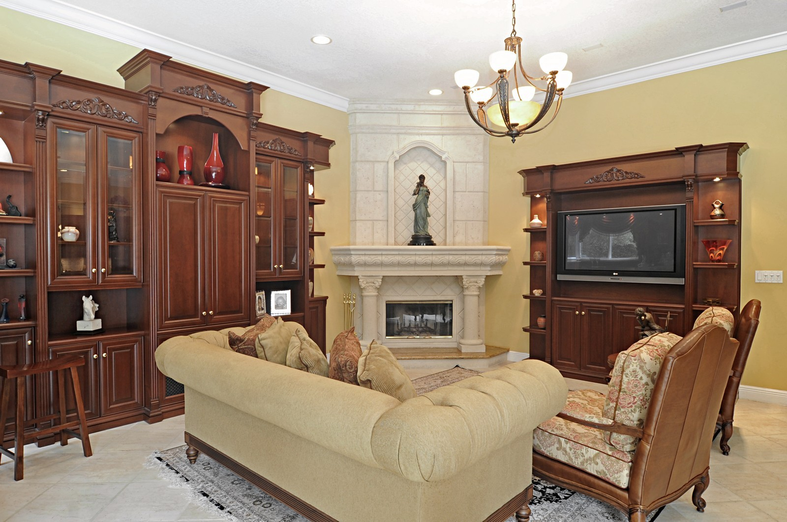 Real Estate Photography - 9564 SW 123rd, Miami, FL, 33176 - Fireplace
