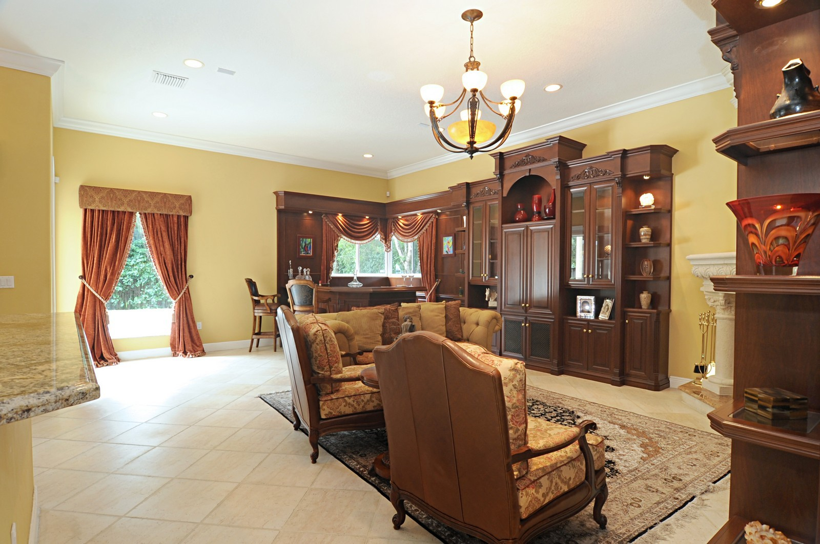 Real Estate Photography - 9564 SW 123rd, Miami, FL, 33176 - Family Room