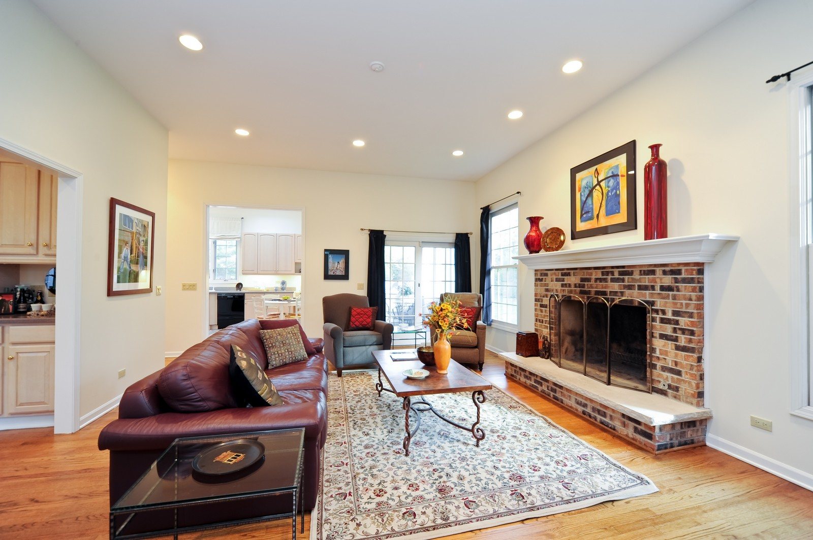 Real Estate Photography - 22575 N Riverwoods Rd, Lincolnshire, IL, 60069 - Living Room