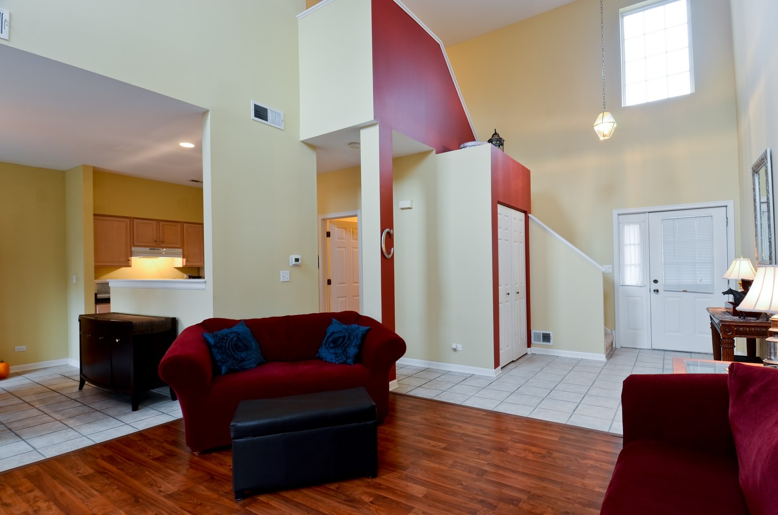 Real Estate Photography - 2822 Collins, Naperville, IL, 60540 - Foyer/Living Room