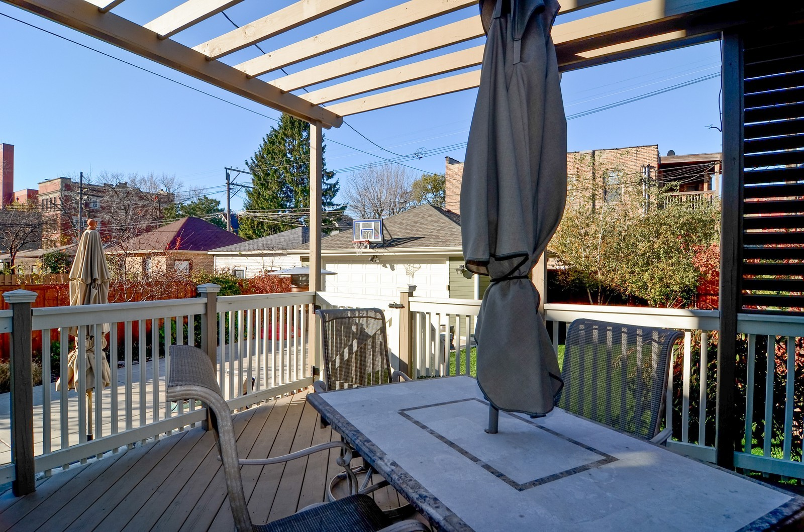 Real Estate Photography - 4332 N Keeler, Chicago, IL, 60641 - Deck