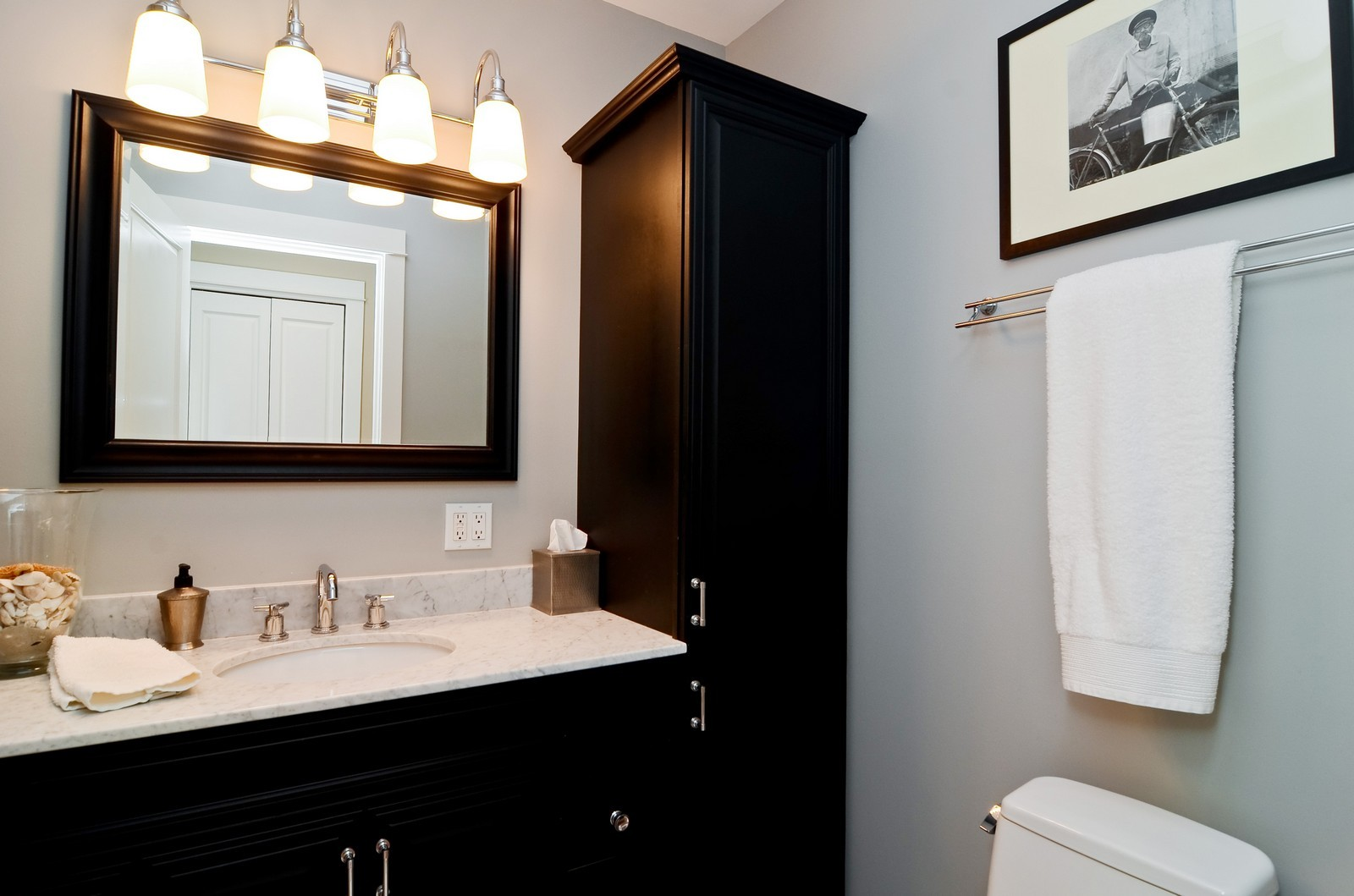 Real Estate Photography - 4332 N Keeler, Chicago, IL, 60641 - Bathroom