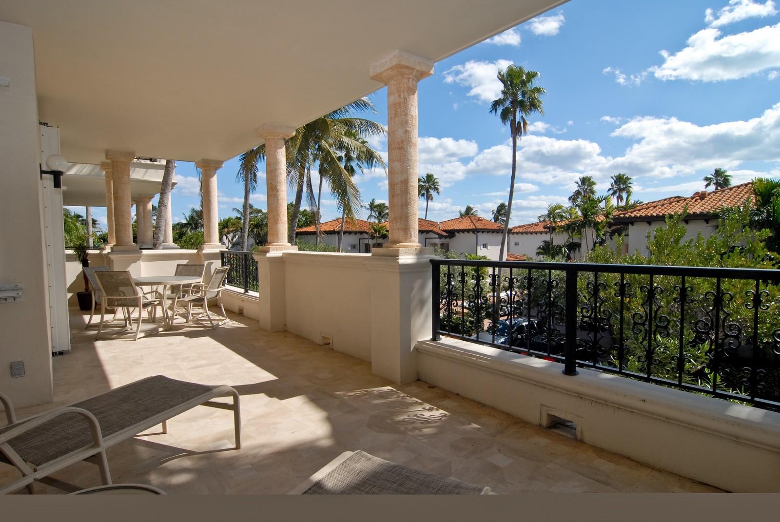 Real Estate Photography - 19124 Fisher Island Drive, Fisher Island, FL, 33109 - Balcony