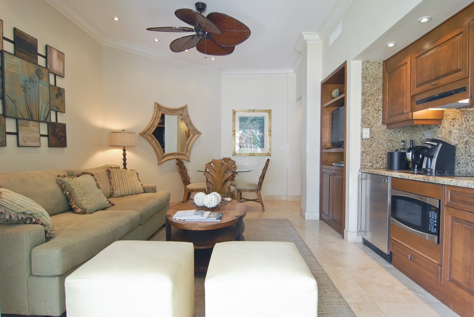 Real Estate Photography - 15521 Fisher Island Dr, Fisher Island, FL, 33109 - Great Room