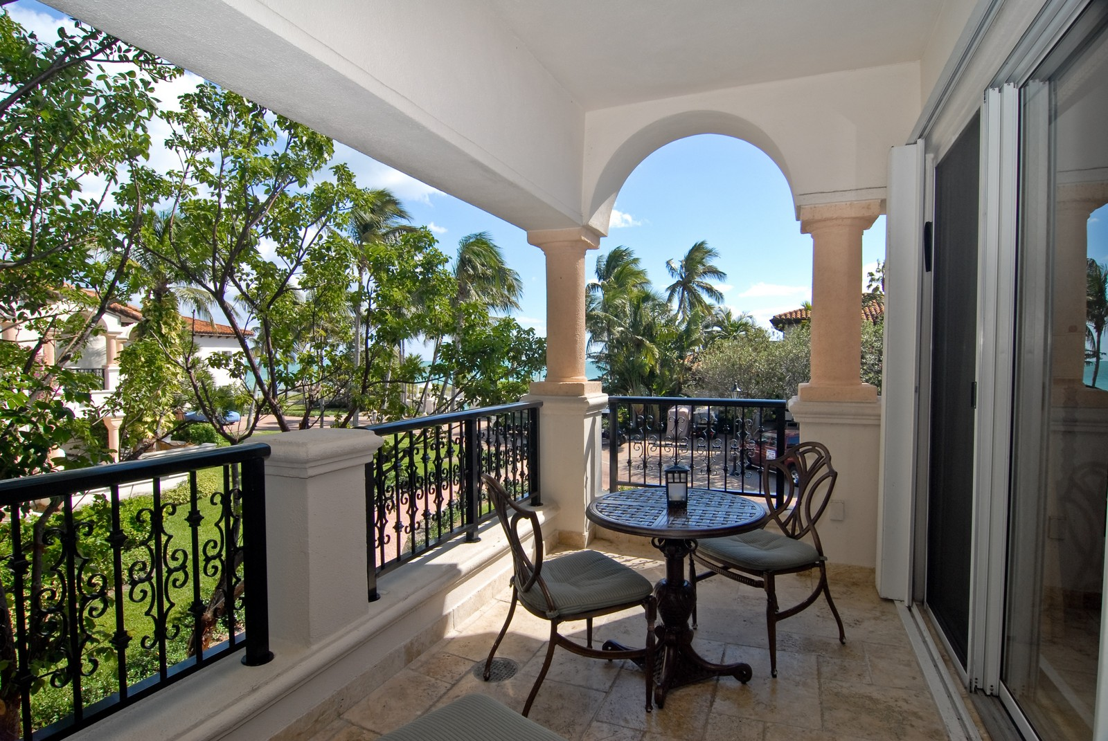 Real Estate Photography - 15521 Fisher Island Dr, Fisher Island, FL, 33109 - Balcony