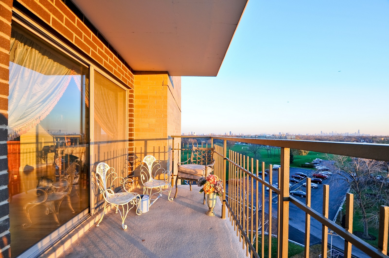 Real Estate Photography - 7033 N Kedzie Ave, Unit 701, Chicago, IL, 60645 - Balcony