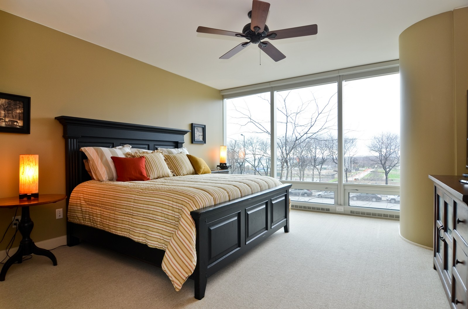Real Estate Photography - 340 East Randolph, Unit 205, Chicago, IL, 60601 - Bedroom