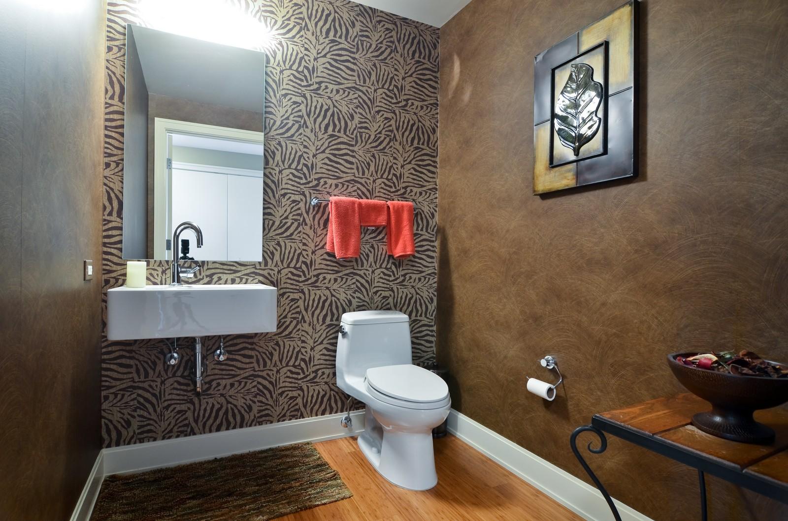 Real Estate Photography - 340 East Randolph, Unit 205, Chicago, IL, 60601 - Half Bath
