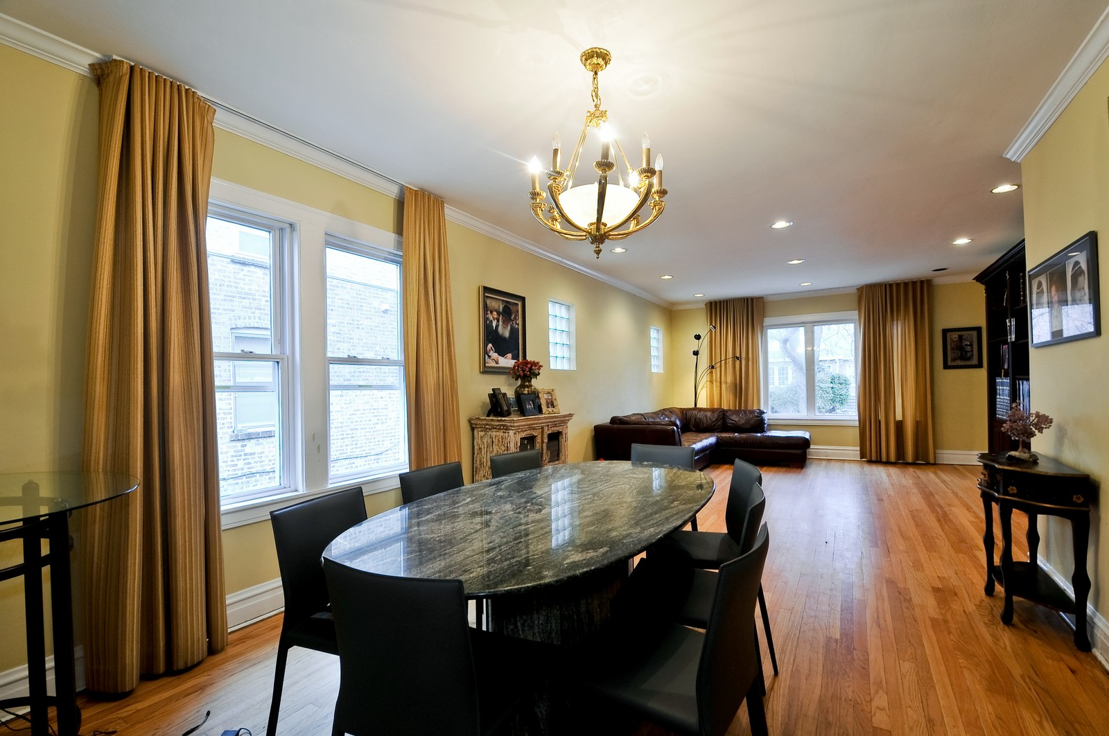 Real Estate Photography - 6605 N Whipple St, Chicago, IL, 60645 - Living Room / Dining Room