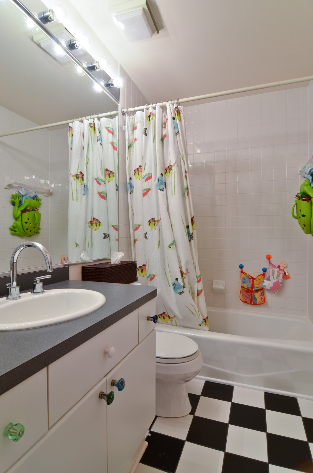 Real Estate Photography - 1347 S Clark, Chicago, IL, 60605 - 2nd Bathroom