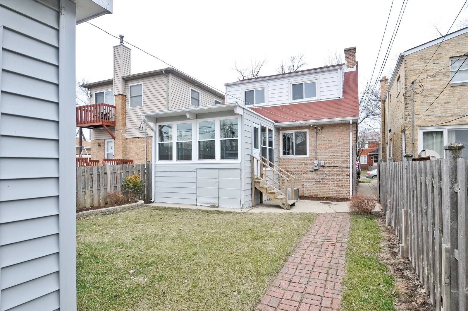 Real Estate Photography - 2741 Chase, Chicago, IL, 60645 - Rear View