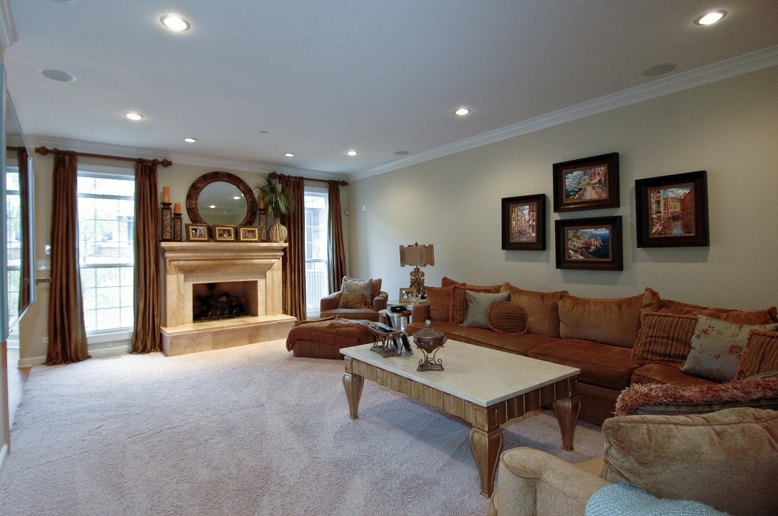 Real Estate Photography - 608 Stone Canyon Circle, Inverness, IL, 60010 - Family Room