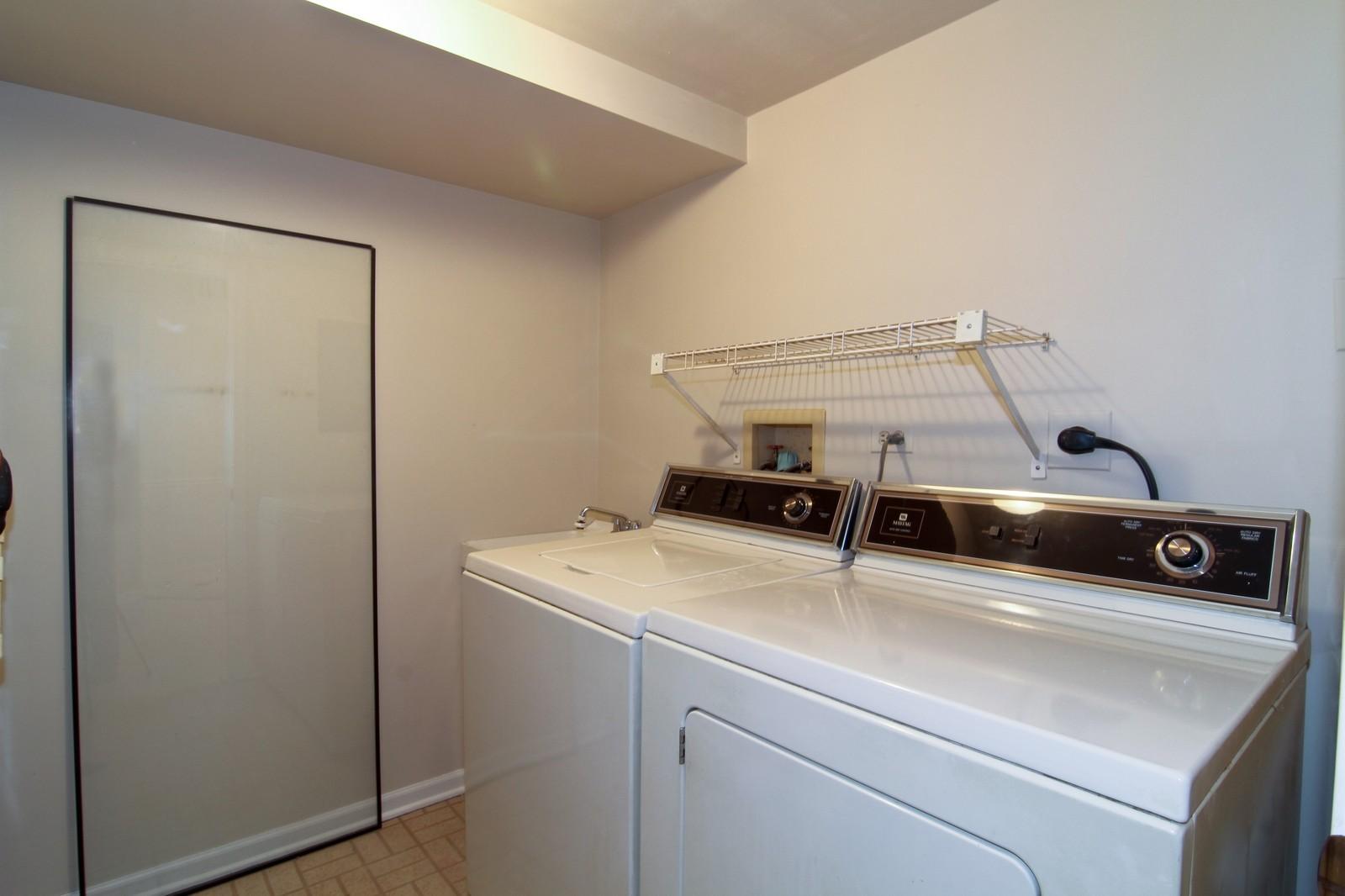 Real Estate Photography - 524 Banyon, Unit A, La Grange, IL, 60525 - Laundry Room