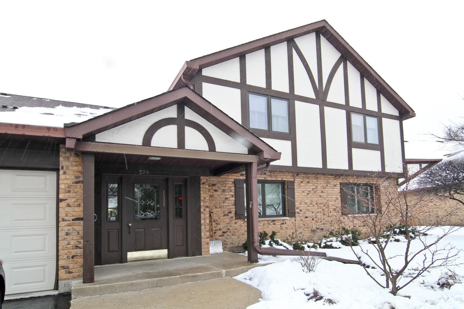 Real Estate Photography - 524 Banyon, Unit A, La Grange, IL, 60525 - Front View