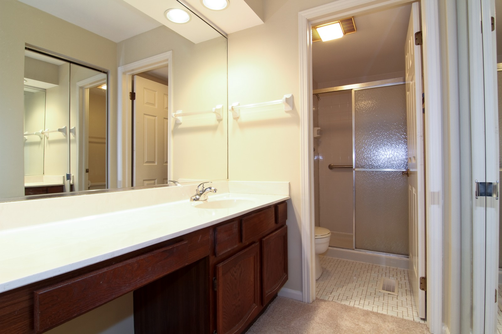 Real Estate Photography - 524 Banyon, Unit A, La Grange, IL, 60525 - 2nd Bathroom