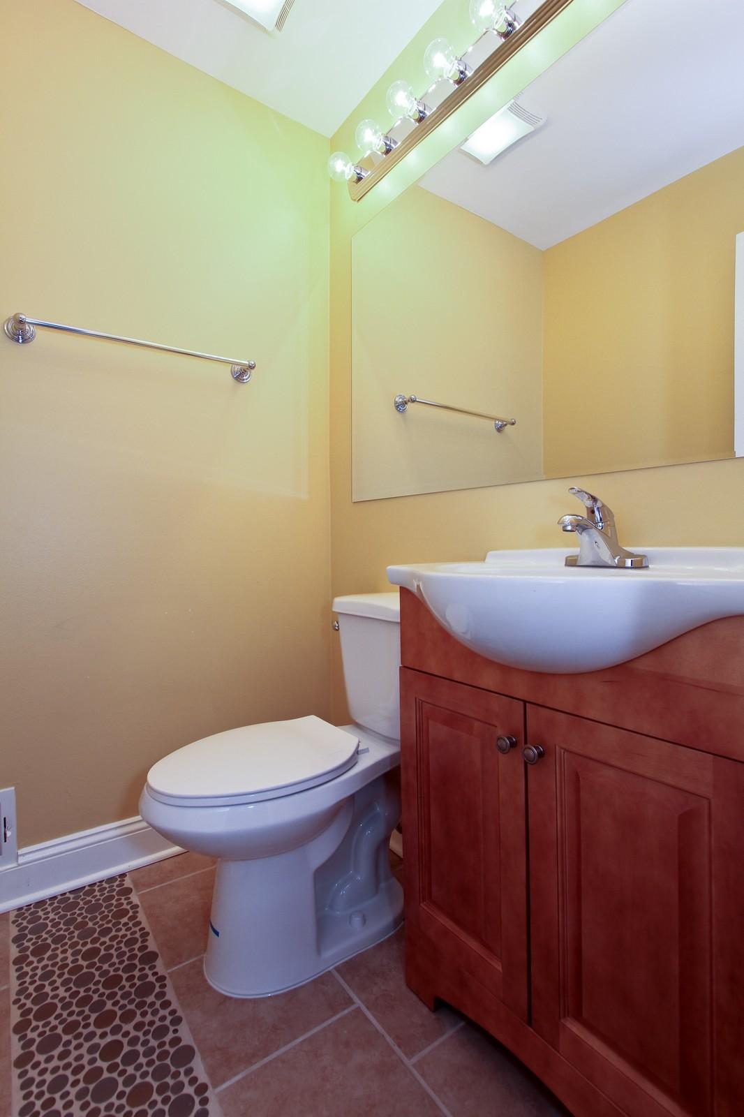 Real Estate Photography - 15435 Sunset, Dolton, IL, 60419 - Half Bath