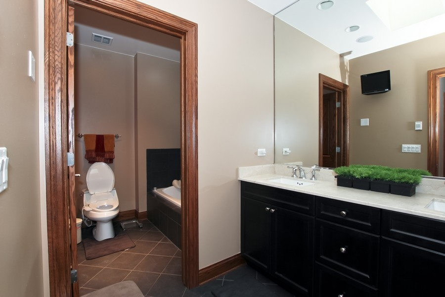 Real Estate Photography - 1407 S Emerald, Chicago, IL, 60607 - Master Bathroom