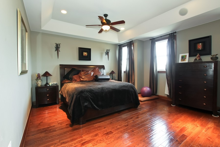 Real Estate Photography - 1407 S Emerald, Chicago, IL, 60607 - Master Bedroom