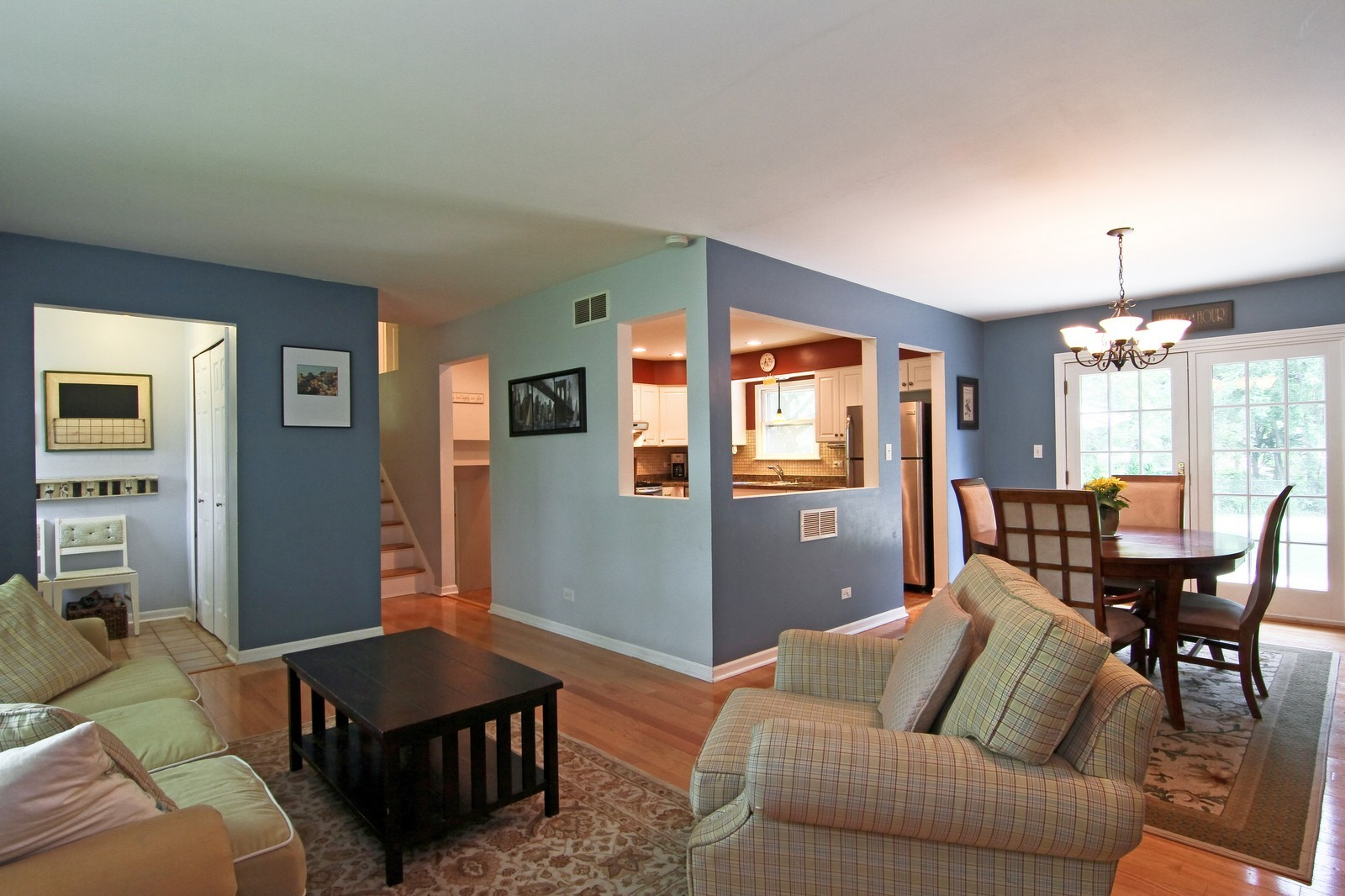 Real Estate Photography - 742 Claremont Drive, Downers Grove, IL, 60516 - Living Room / Dining Room
