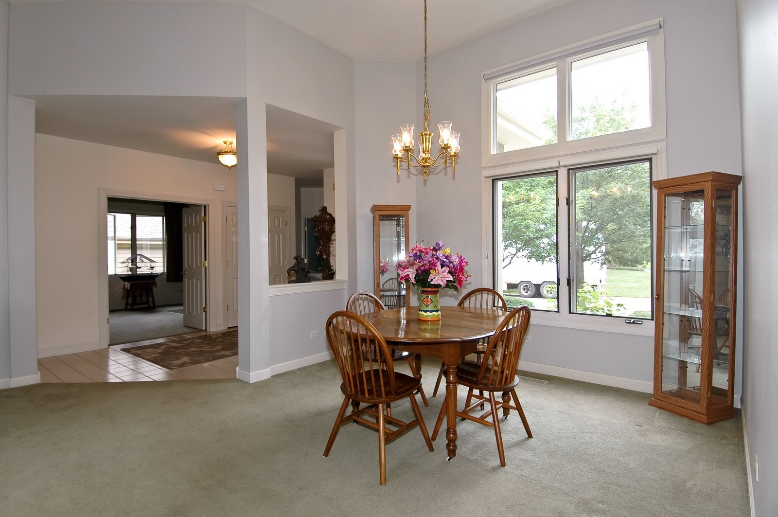Real Estate Photography - 210 Course Dr, Lake in the Hills, IL, 60156 - Foyer/Dining Room