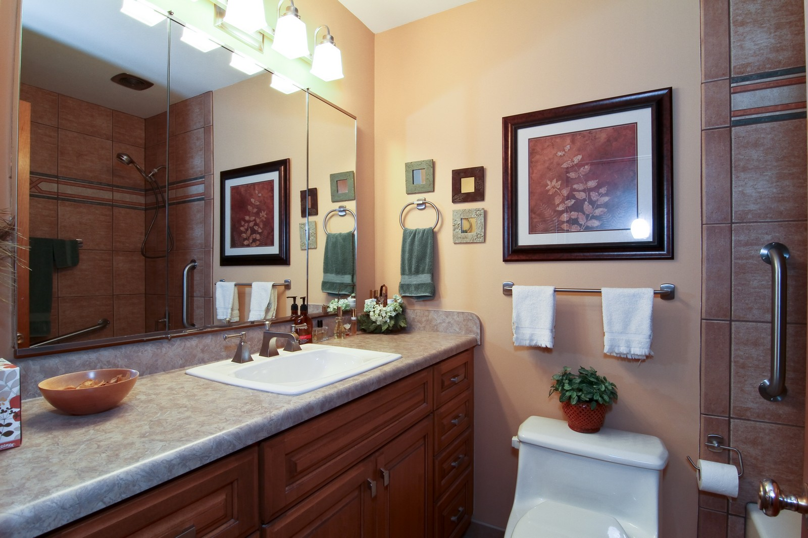 Real Estate Photography - 6801 Leonard Dr, Darien, IL, 60561 - Master Bathroom