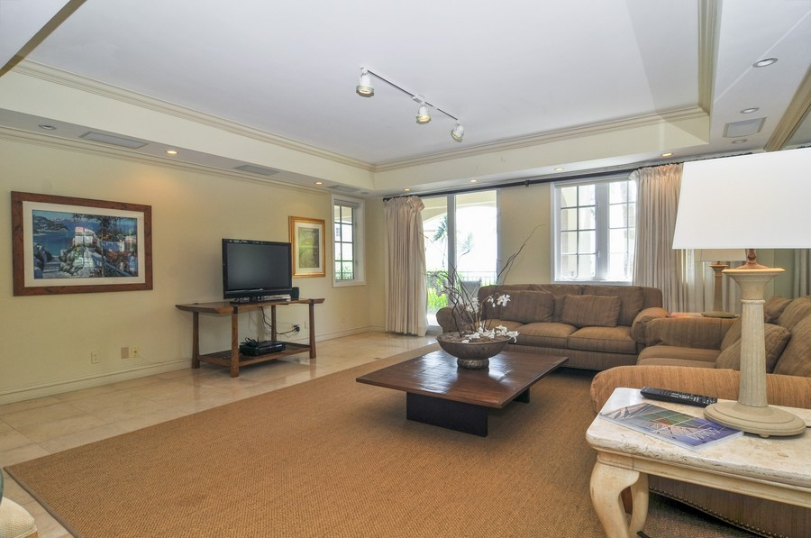 Real Estate Photography - 19213 Fisher Island Drive, Fisher Island, FL, 33109 - Living Room