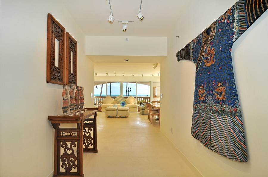 Real Estate Photography - 7915 Fisher Island Dr, Fisher Island, FL, 33109 - Foyer/Living Room