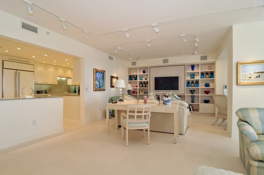 Real Estate Photography - 7915 Fisher Island Dr, Fisher Island, FL, 33109 - Family Room / Kitchen