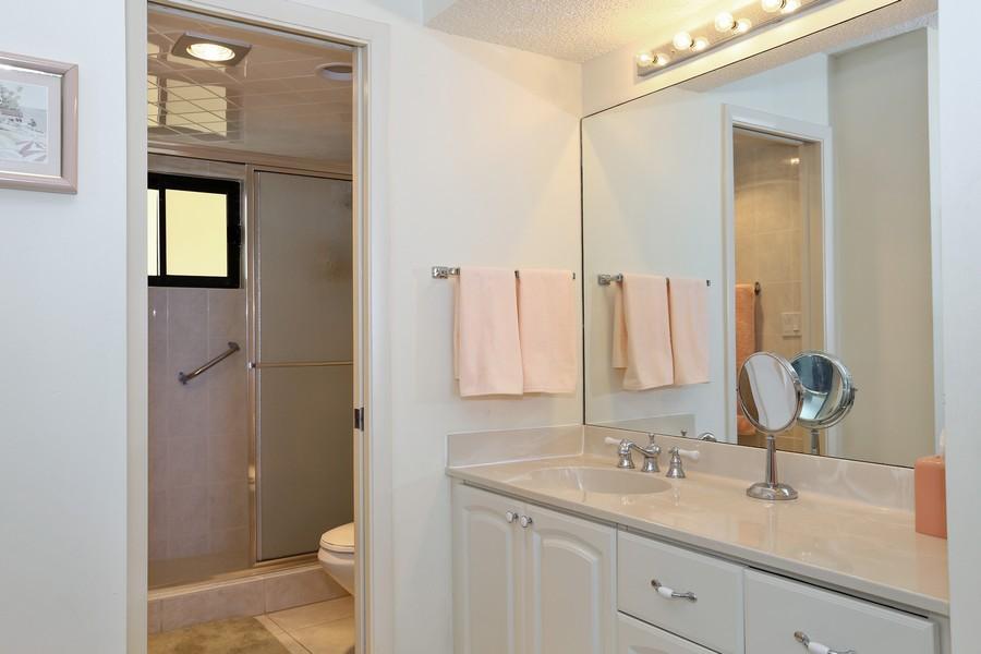 Real Estate Photography - 300 Ocean Trail Way, Apt 903, Jupiter, FL, 33477 - Master Bathroom