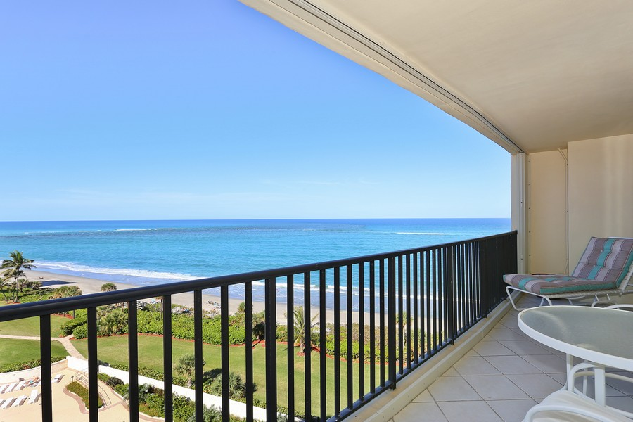 Real Estate Photography - 300 Ocean Trail Way, Apt 903, Jupiter, FL, 33477 - Balcony