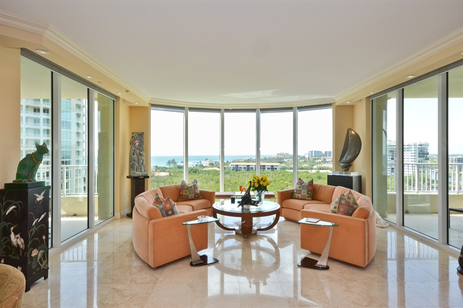 Real Estate Photography - 3720 S Ocean Blvd, Apt 901, Highland Beach, FL, 33487 - Living Room