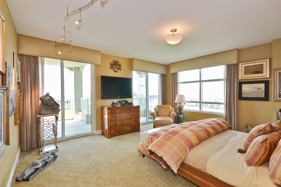 Real Estate Photography - 3720 S Ocean Blvd, Apt 901, Highland Beach, FL, 33487 - Master Bedroom