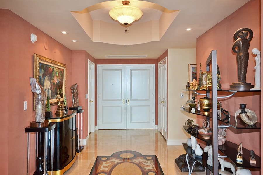 Real Estate Photography - 3720 S Ocean Blvd, Apt 901, Highland Beach, FL, 33487 - Foyer