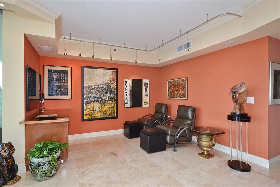 Real Estate Photography - 3720 S Ocean Blvd, Apt 901, Highland Beach, FL, 33487 - Den