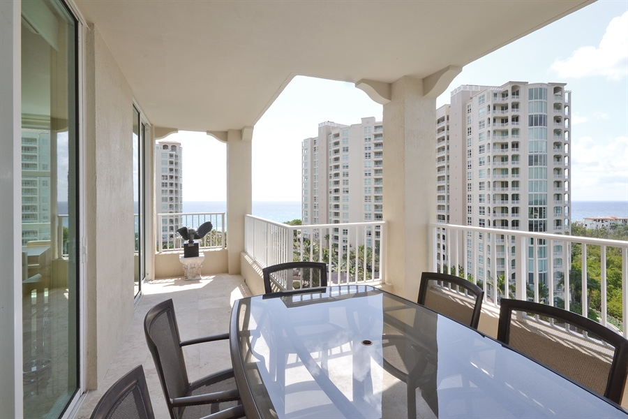Real Estate Photography - 3720 S Ocean Blvd, Apt 901, Highland Beach, FL, 33487 - Balcony