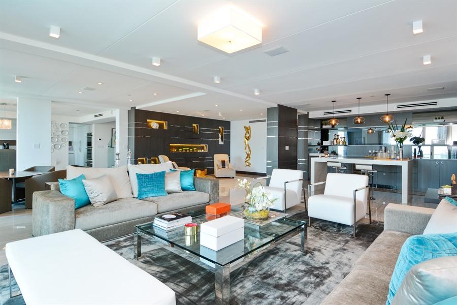 Real Estate Photography - 3301 NE 183rd St, Unit 3008, Aventura, FL, 33160 - Living Room