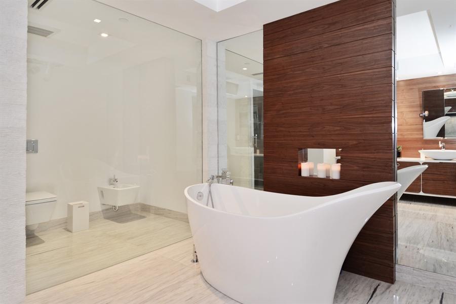 Real Estate Photography - 3301 NE 183rd St, Unit 3008, Aventura, FL, 33160 - Master Bathroom