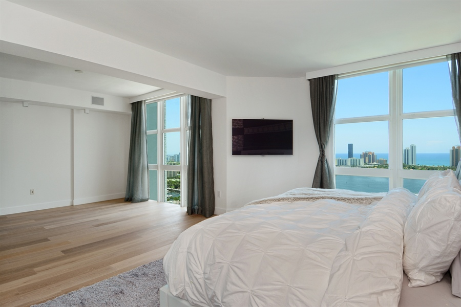 Real Estate Photography - 3301 NE 183rd St, Unit 3008, Aventura, FL, 33160 - Master Bedroom