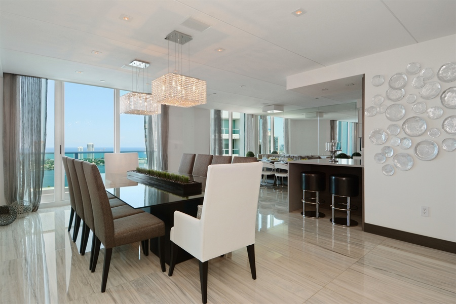 Real Estate Photography - 3301 NE 183rd St, Unit 3008, Aventura, FL, 33160 - Dining Room
