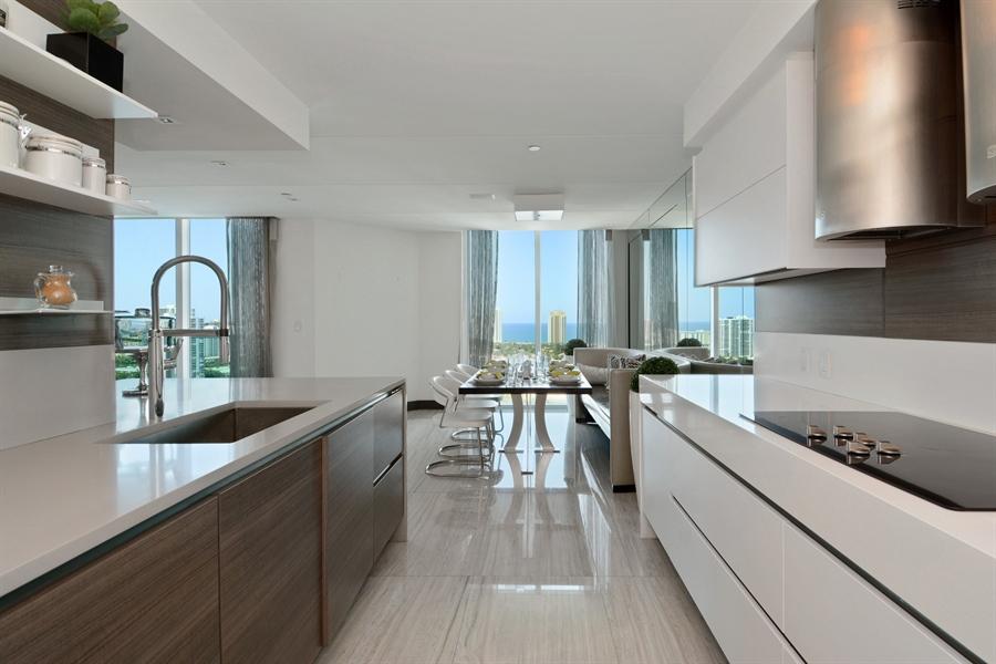 Real Estate Photography - 3301 NE 183rd St, Unit 3008, Aventura, FL, 33160 - Kitchen